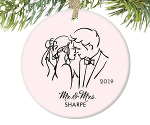 Married Couple Christmas Ornament, Personalized | 319