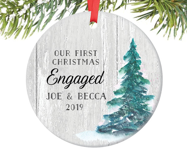 First Christmas Engagement Ornament, Personalized | 330