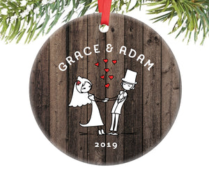 Married Couple Christmas Ornament, Personalized | 334