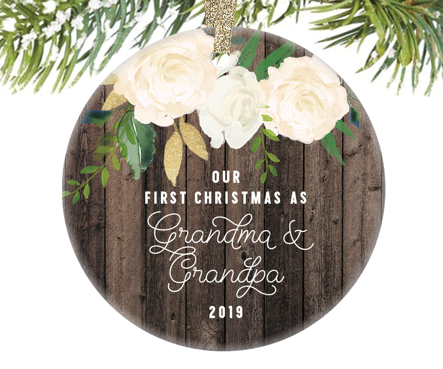 First Christmas as Grandma and Grandpa Ornament | 343