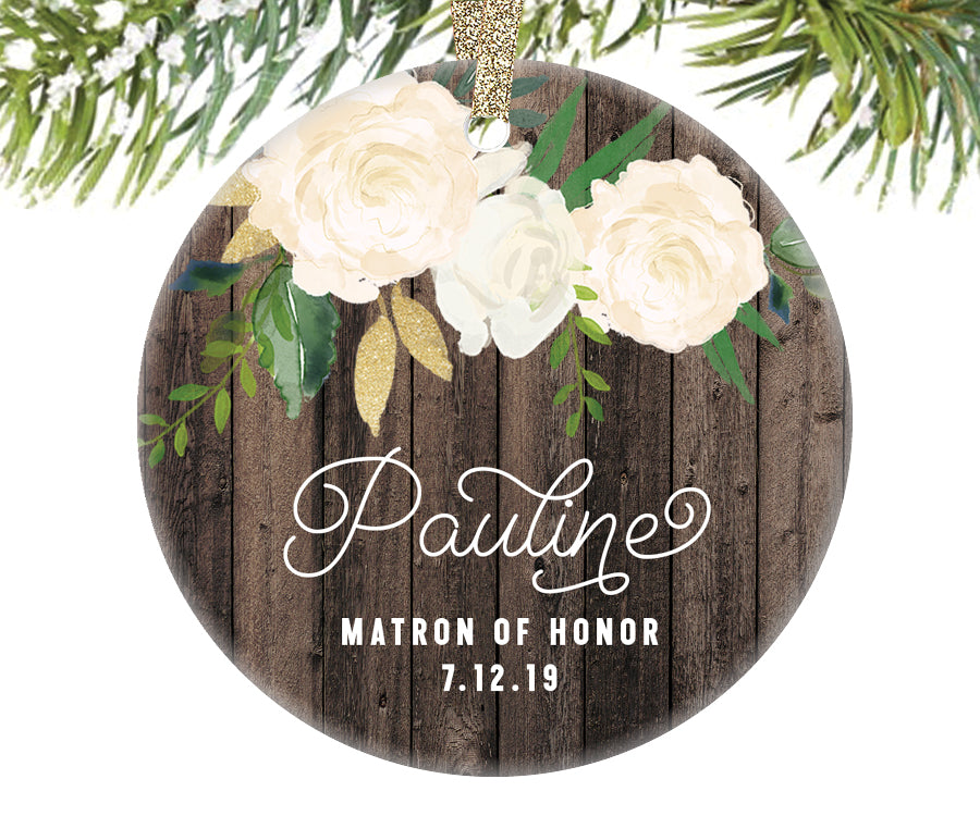 Matron of Honor Ornament Gift, Personalized | 346