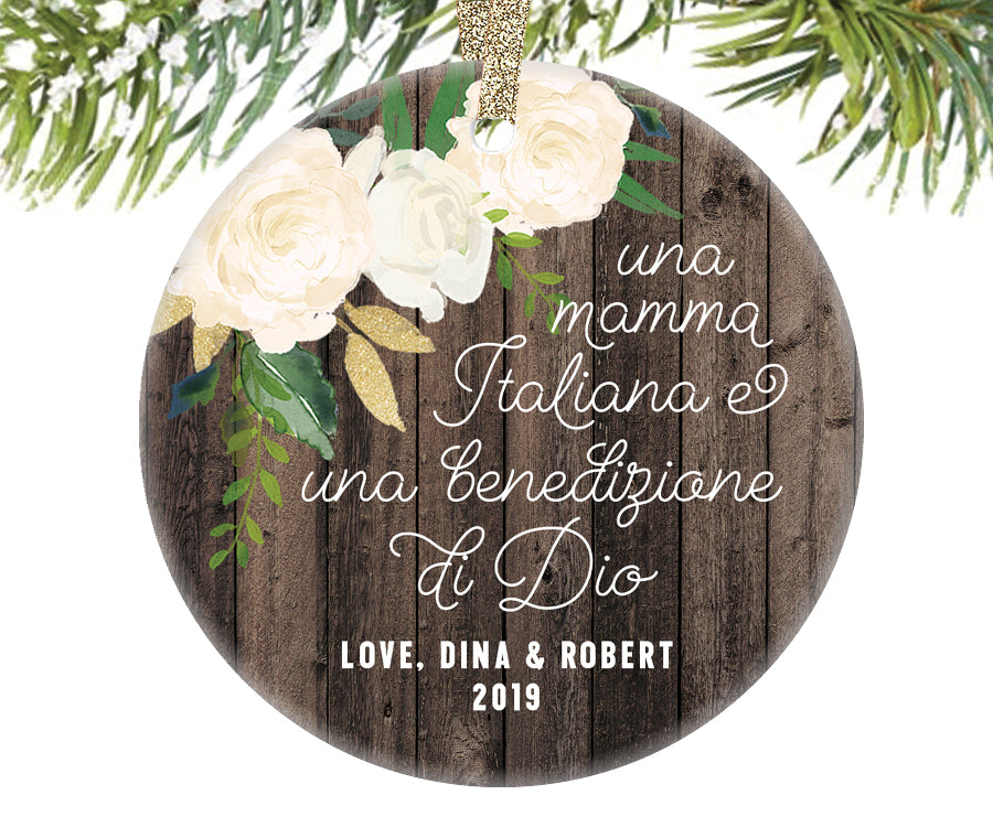 Italian Mom Christmas Ornament | 348