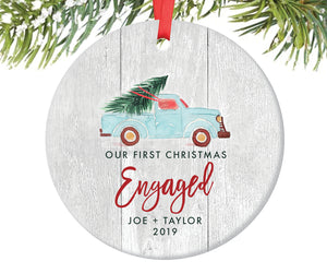 Engagement Christmas Ornament, Personalized | 354