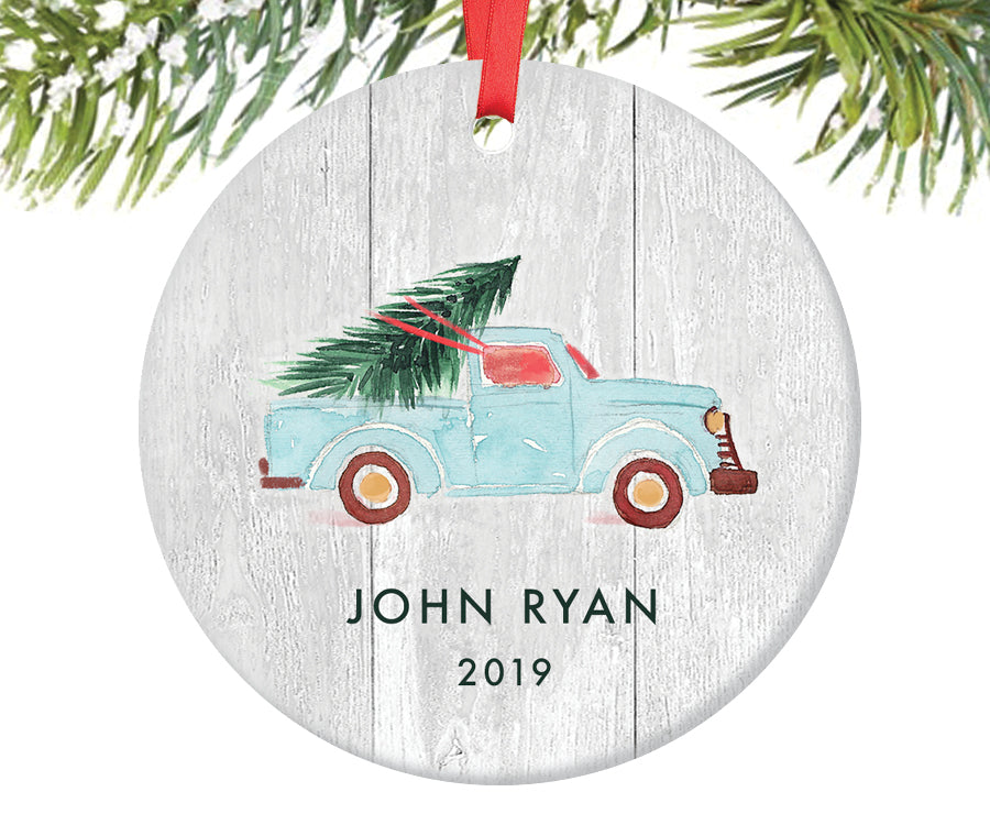 Truck Ornament for Boys, Personalized | 355