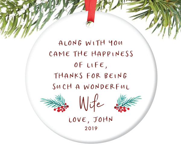 Ornament for Wonderful Wife, Personalized | 359
