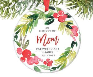 Memorial Christmas Ornament for Mom, Personalized | 369