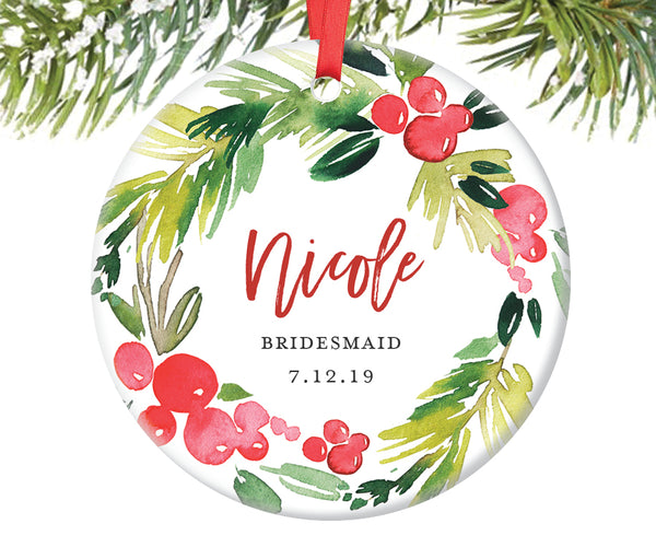 Bridesmaid Ornament Gift, Personalized | 370