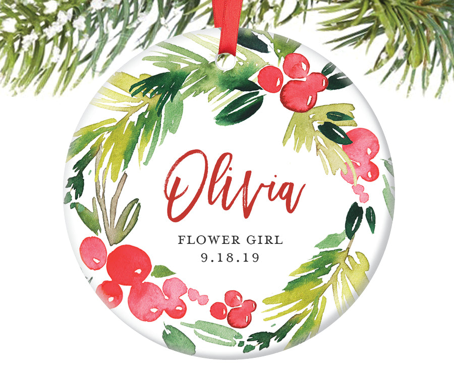 Flower Girl Ornament Gift, Personalized | 373