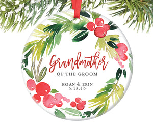 Grandmother of the Groom Ornament, Personalized | 376