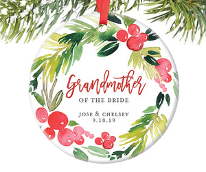 Grandmother of the Bride Ornament, Personalized | 377