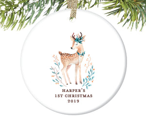 Baby Girl's First Christmas Ornament, Personalized | 380
