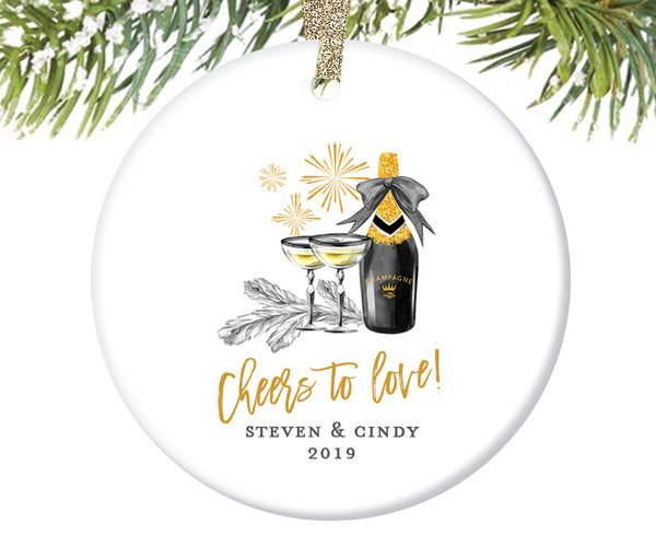 Couples Christmas Ornament, Personalized | 382