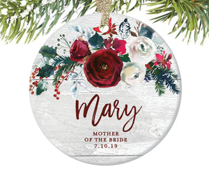 Mother of the Bride Ornament Gift, Personalized | 399