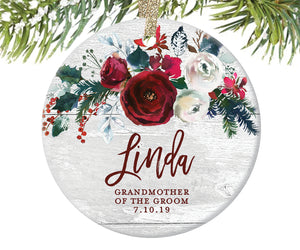 Grandmother of the Groom Ornament, Personalized | 401