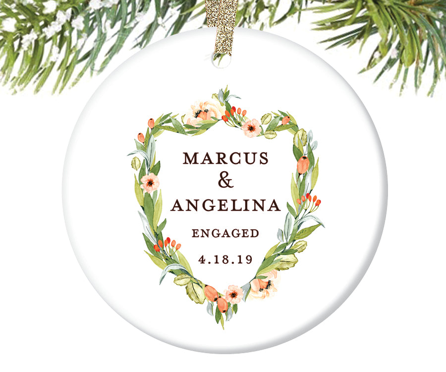 Engaged Christmas Ornament, Personalized | 403