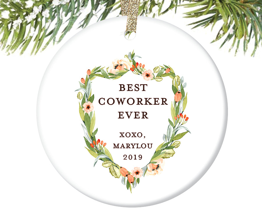 Best Coworker Ever Christmas Ornament | 404