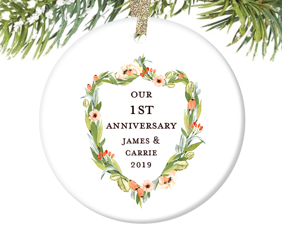 Anniversary Christmas Ornament, Personalized | 405