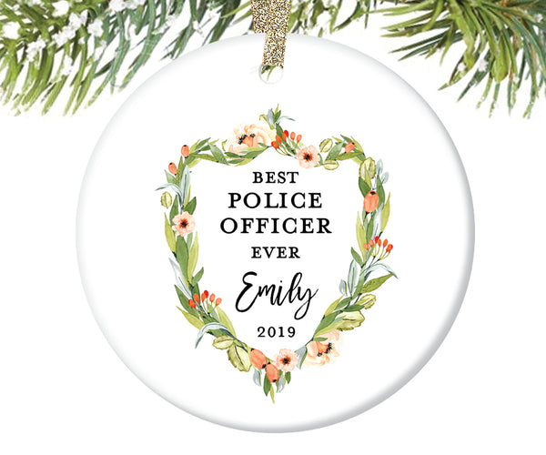 Best Police Officer Ever Christmas Ornament | 406