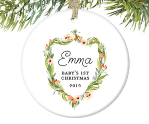 Baby's First Christmas Ornament, Personalized | 410
