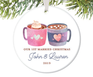 Our 1st Christmas Engaged Ornament, Personalized | 412