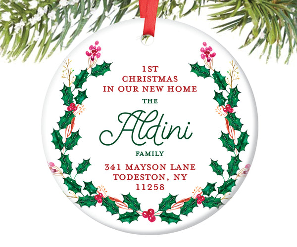 1st Christmas New Home Ornament, Personalized | 413