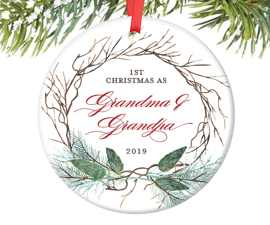 First Christmas as Grandma and Grandpa Ornament | 419