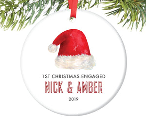 First Christmas Engaged Ornament, Personalized | 423