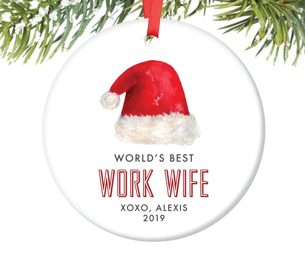 World's Best Work Wife Ornament