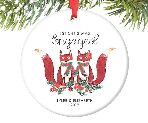 1st Christmas Engaged Ornament, Personalized | 427