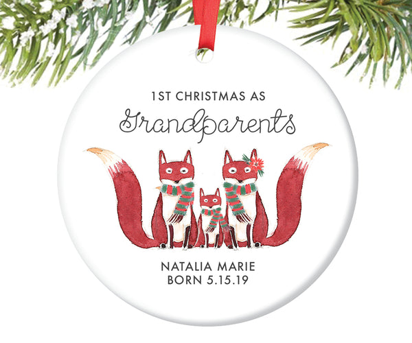 1st Christmas as Grandparents Ornament, Personalized | 430
