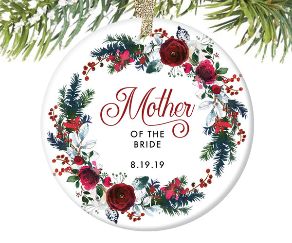Mother of the Bride Ornament, Personalized | 437