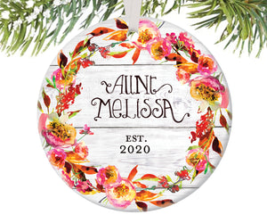 Aunt Christmas Ornament, Personalized | 443
