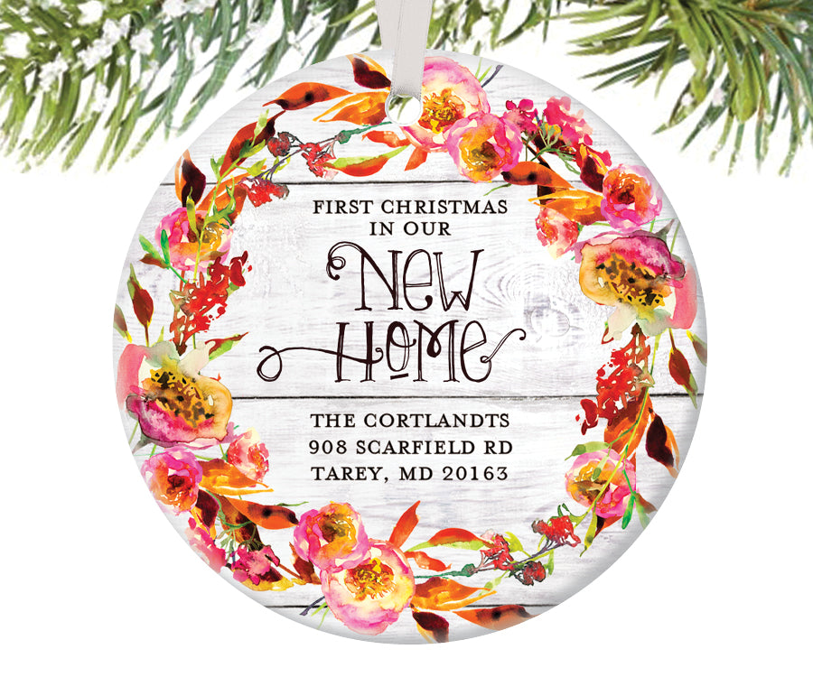 First Christmas New Home Ornament, Personalized | 449