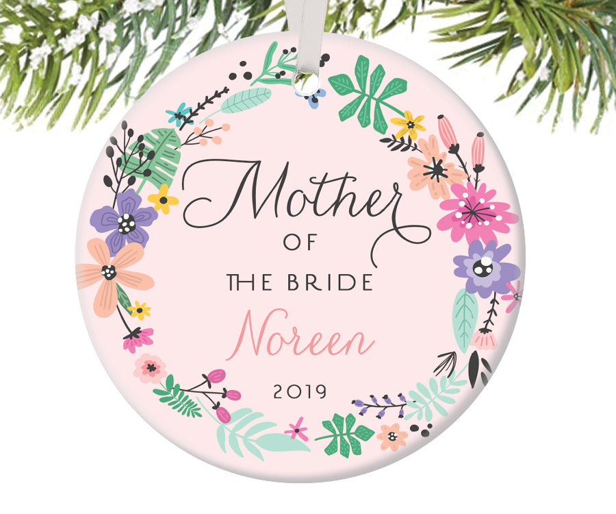 Mother of the Bride Christmas Ornament, Personalized | 458