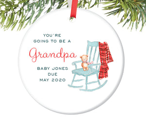 You're Going To Be A Grandpa Ornament, Personalized | 463