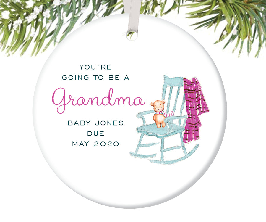 You're Going To Be A Grandma Ornament, Personalized | 464