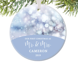 First Christmas as Mr and Mrs Ornament, Personalized | 480