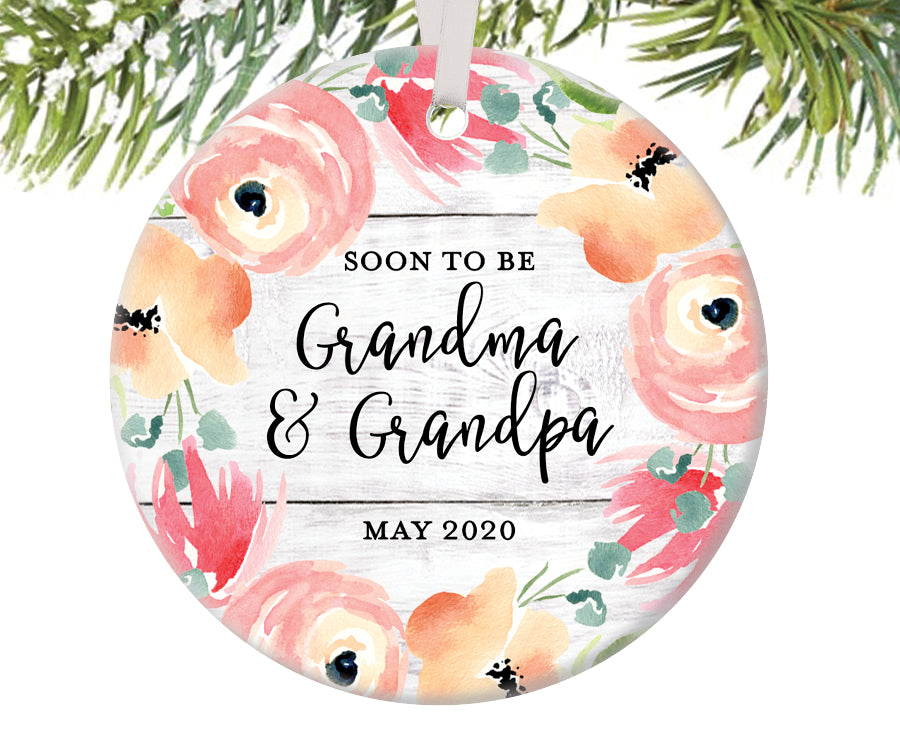 Soon To Be Grandma and Grandpa Ornament | 485