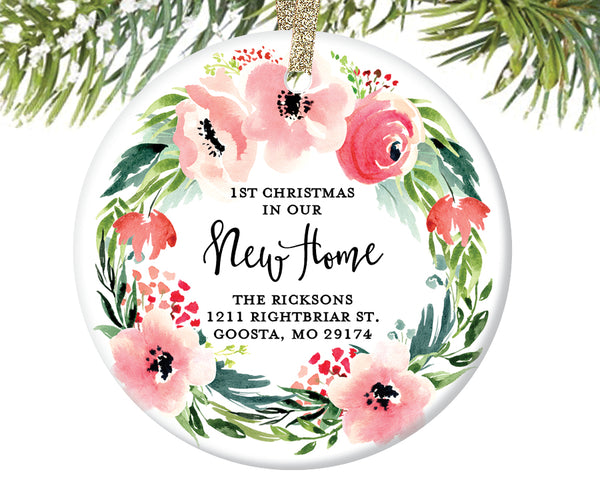 1st Christmas New Home Ornament, Personalized | 489