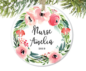 Christmas Ornament for Nurses, Personalized | 493
