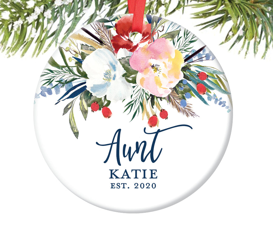 New Aunt Christmas Ornament, Personalized | 499