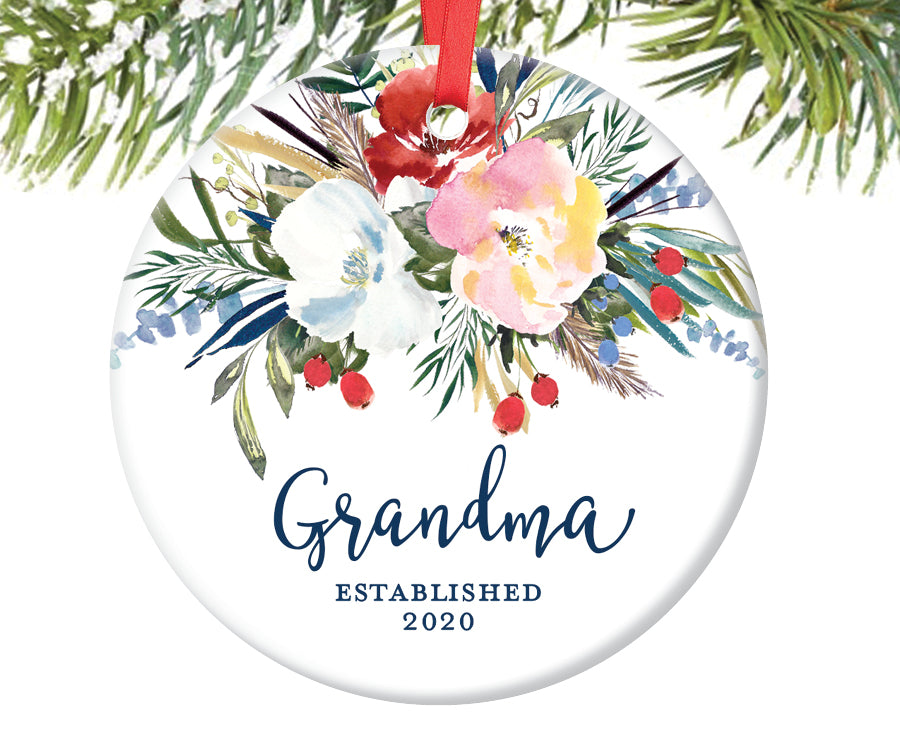 New Grandma Christmas Ornament, Personalized | 500