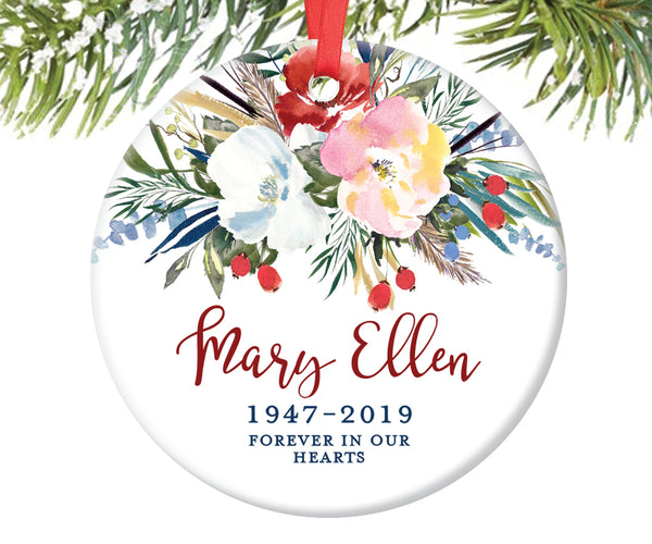 Memorial Christmas Ornament, Personalized | 501