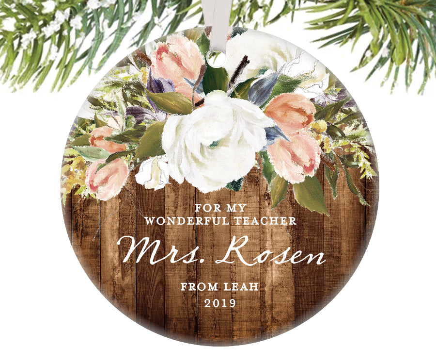 Teacher Christmas Ornament, Personalized | 509
