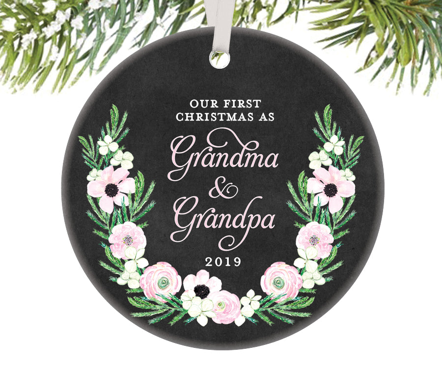 First Christmas as Grandma and Grandpa Ornament | 511