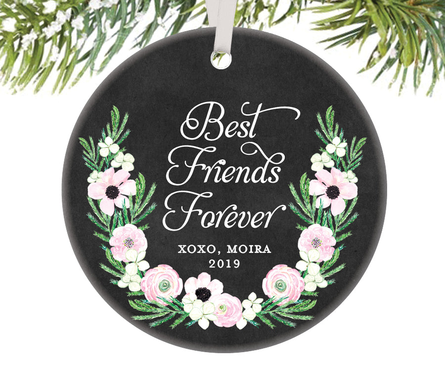 Best Friends Forever Christmas Ornament, Personalized | 515