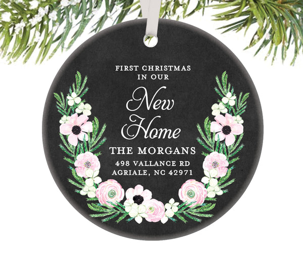 First Christmas New Home Ornament, Personalized | 520