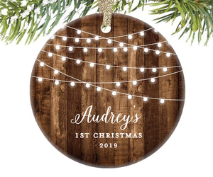 Baby's First Christmas Ornament, Personalized | 525