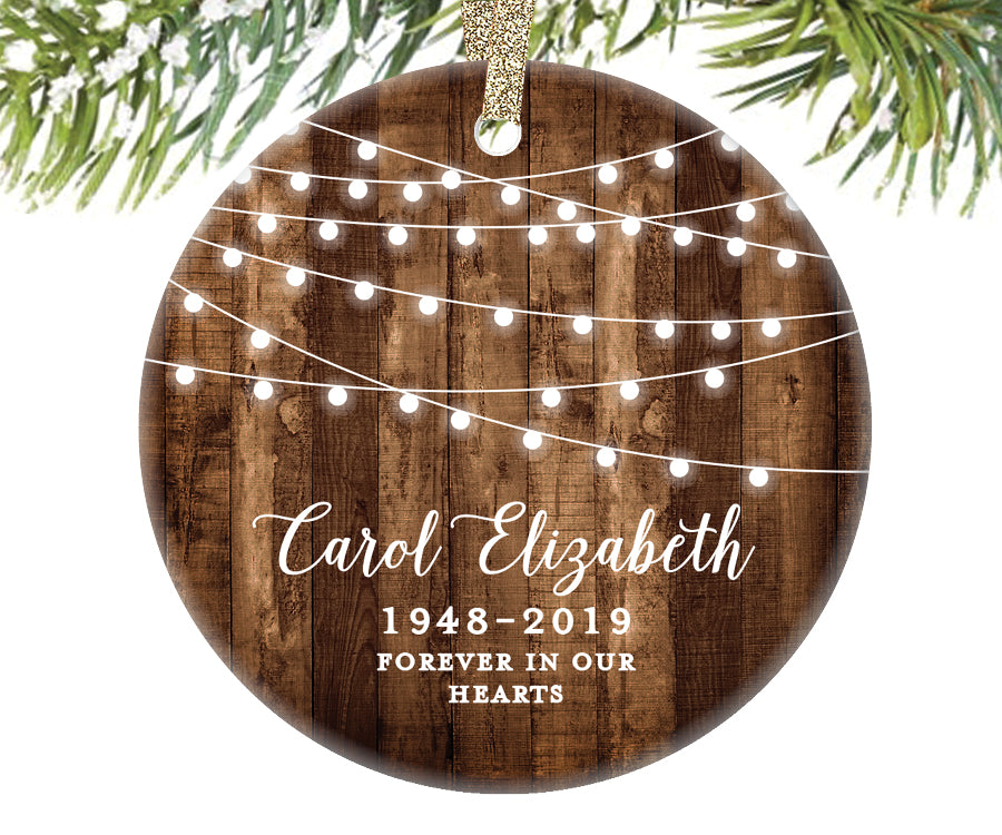 Memorial Christmas Ornament, Personalized | 527
