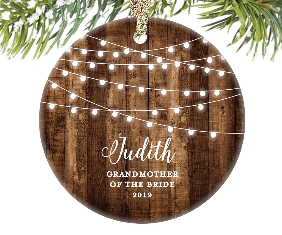 Grandmother of the Bride Christmas Ornament, Personalized | 535